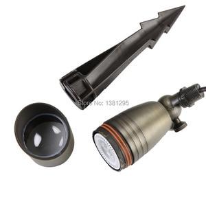 Image 5 - 12V Low Voltage Outdoor Landscape Lighting Cast Brass Spotlight Bronze LED Garden Flood Light Spot Light MR16 Bulbs 3W 5W