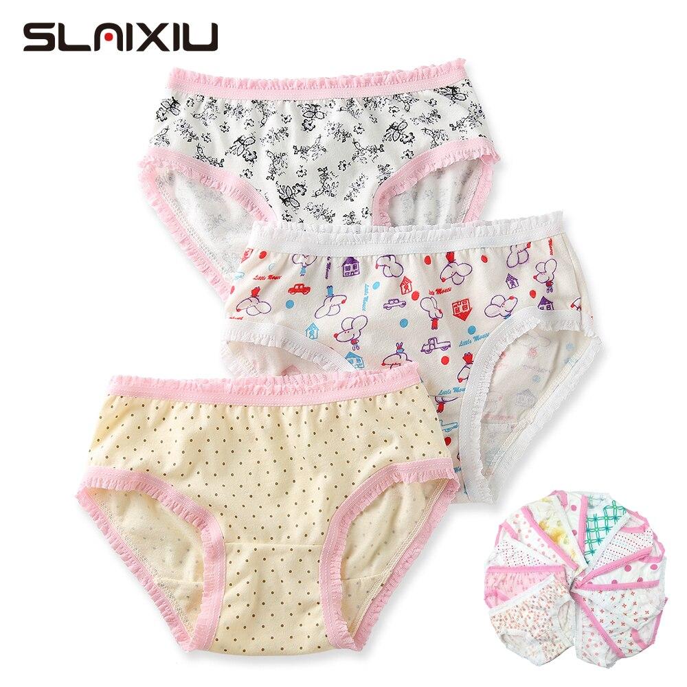 12 Pcs/Lot 100% Organic Cotton Girls Briefs Shorts   Panties   Baby Underwear High Quality Kids Briefs For Children's Clothes 2-8 y