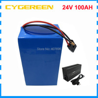 24 volt 1000W Lithium battery 100AH 24V 7S Electric bike battery INR18650 35E Cell 50A BMS with 29.4V 5A Charger
