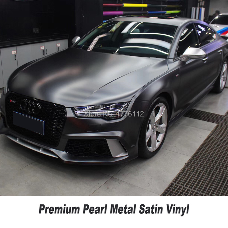 Highest quality matte metallic Dark platinum wrapping film pearl metal titanium foil for High end car