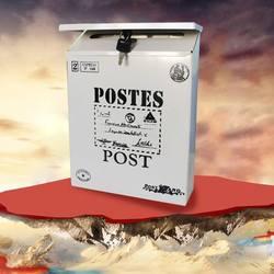 Metalowa skrzynka pocztowa skrzynka 4 kolory Vintage metalowa blaszana gazeta listowa skrzynka pocztowa wodoodporna skrzynka pocztowa zamykana skrzynka ozdoba ogrodowa|Skrzynki pocztowe|Dom i ogród -