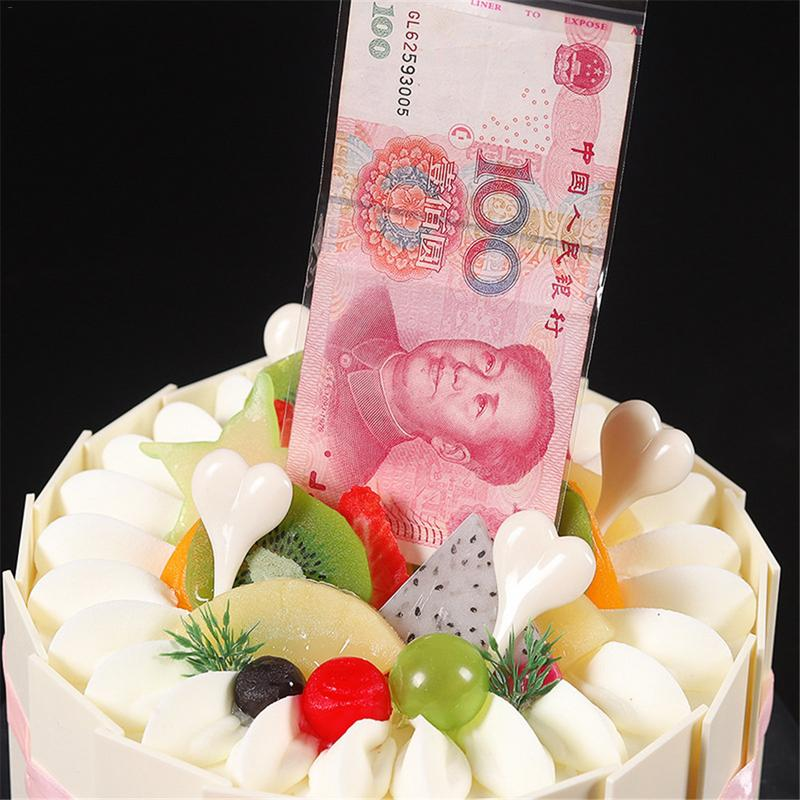 Creative Draw Money Machine Box Cake Decoration Props Material Environmentally Friendly Tricky Toys Distribution WITH 20 Bags