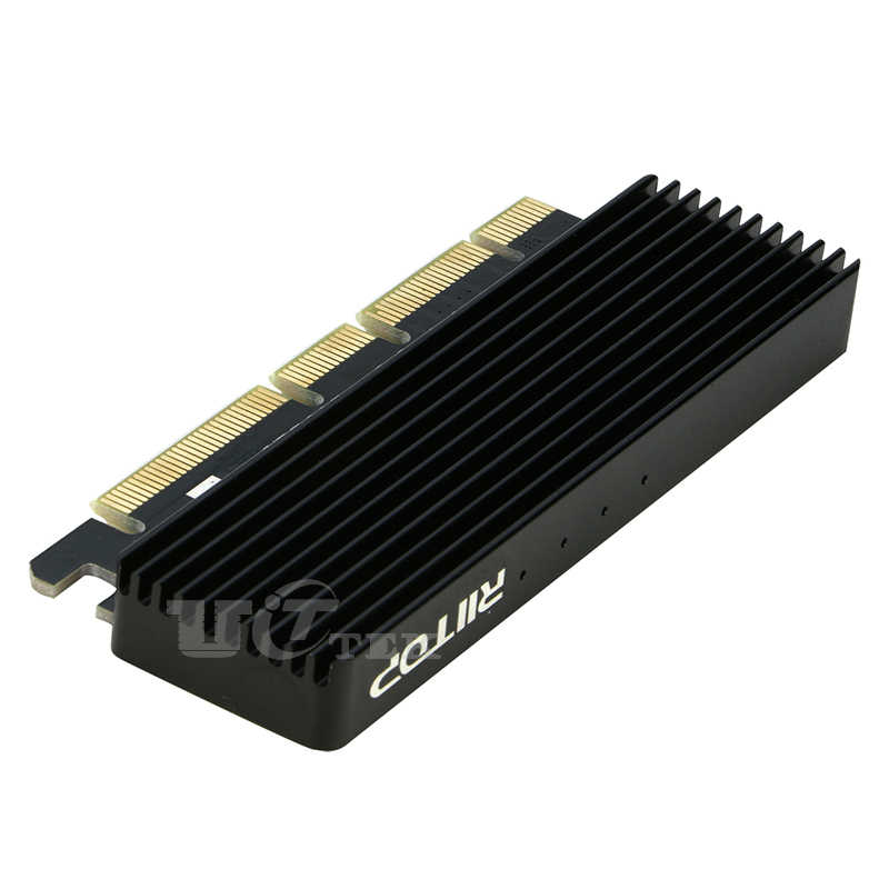 M2 NVMe SSD To PCI-e 4x/8x/16x Card Adapter for M.2 NVME PCI-e M Key  2230/2242/2260/2280 SSD with Heatsink