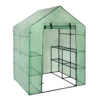 PVC Garden Walk in Greenhouse Plant Cover Garden Decoration Protect Plants Flowers With Stand Frame