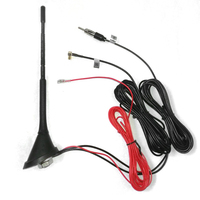 Car Roof DAB +FM/AM Car Radio Antenna Amplifier Booster Roof Mount Active SMB 5m