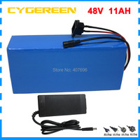 500W 700W 48 V ebike e scooter Lithium ion battery 48V 11AH Electric bike battery with 15A BMS 2A Charger Free customs duty