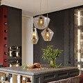 Скандинавский Лофт металлический стеклянный подвесной светильник  современный светодиодный подвесной светильник для гостиной  спальни  р...