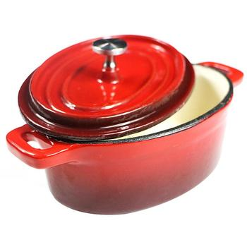 Ceramic Liner Insulation Dutch Ovens Enameled Cast Iron Covered Casserole Pot Anti - Scalding Oval Mini Pot Kitchen Cooking
