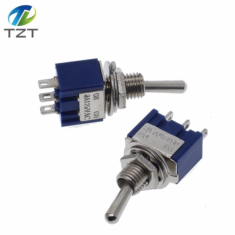 DIY Toggle Switch ON-OFF-ON / ON-OFF 3Pin 3 Position Latching MTS-103 MTS-102 AC 125V/6A 250V/3A Power Button Switch Car