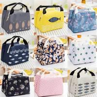Taşınabilir Yalıtımlı Termal Soğutucu Bento yemek kabı Tote Piknik saklama çantası Kılıfı Öğle Çanta