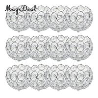 12 Pieces Crystal Beads Candle Holders Candlestick Tea Light Candle Lantern Home Wedding Xmas Table Decoration