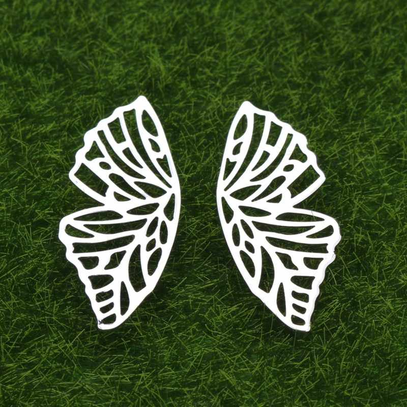 Hollow Butterfly Gold Color Stud Earrings for Women Big Exaggerated Party Wedding Fashion Jewelry Accessories ZA New Design