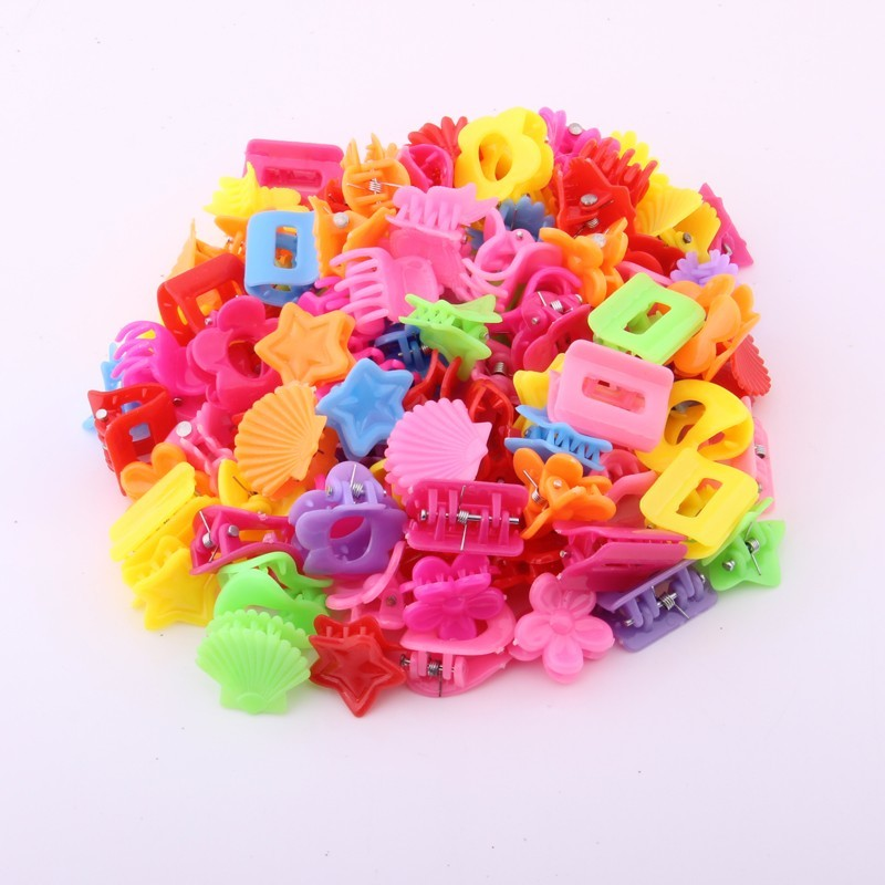 Charming candy colors small hair claws for baby girls frnge clips accessory kinds of lovely designs hairpins 50pcs/lot