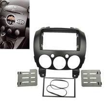 Car Stereo Fascia Dash Panel 2 Din Frame Trim Kit For Mazda 2/Demio 07-14 New цена и фото