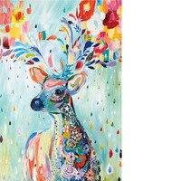 Farbe deer 1000 einheiten landschaft puzzles erwachsene 1000 arten von stilen der stadt 3D dicken papier puzzle spielzeug neue jahr beste geschenk|Puzzles|Spielzeug und Hobbys -