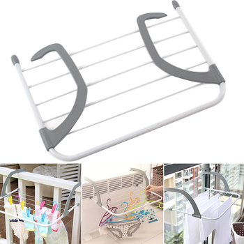 Estante de secado ajustable plegable portátil balcón ropa lavandería multifunción radiador telescópico aireador poste exterior