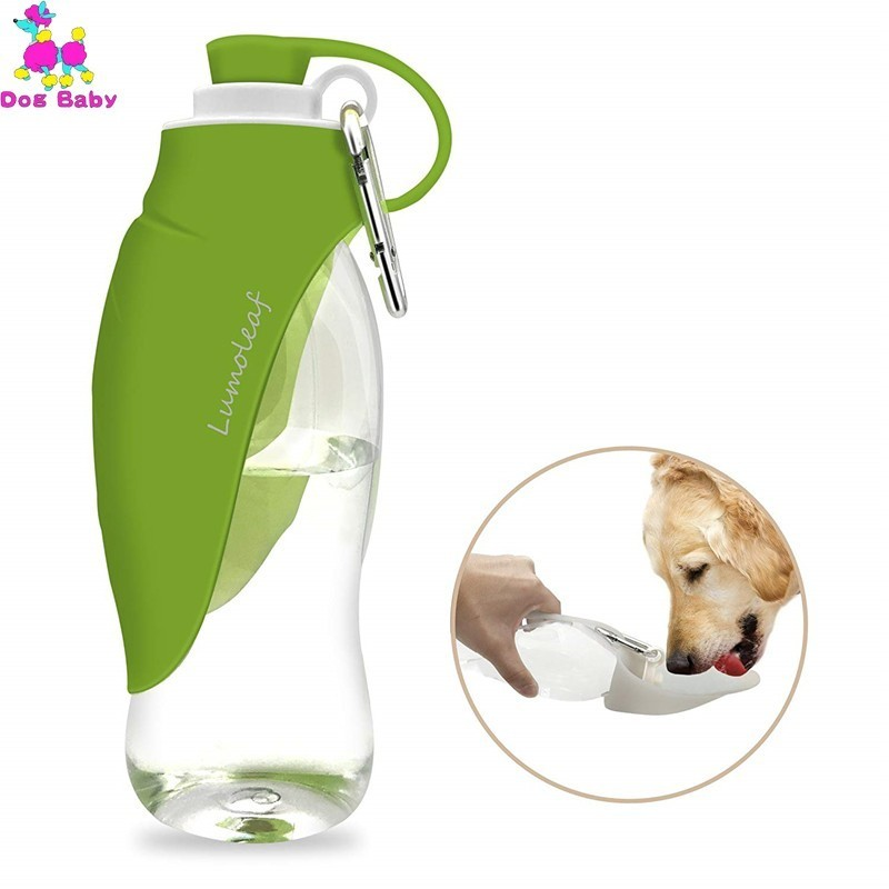 500ml Dog Water Bottle For Walking, Pet Water Dispenser Feeder Container Portable With Drinking Cup Bowl Outdoor Hiking, Travel