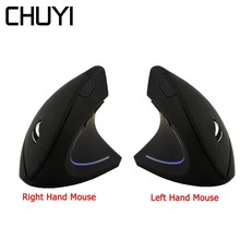 2.4Ghz Wireless Vertical Mouse Ergonomic Gaming Right/Left-handed Mouse 1600DPI USB Optical Computer Mice for PC Laptop Gamer