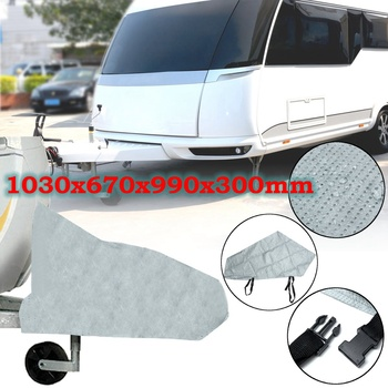 103x67x99x30cm Caravan Towing Hitch Coupling Lock Cover for RV Motorhome Trailer Truck Rain Dustproof Waterproof