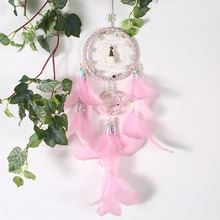 Pink beauty boutique 2 ring dream catcher trap pendant lovely girl style pink interior decoration birthday  gift