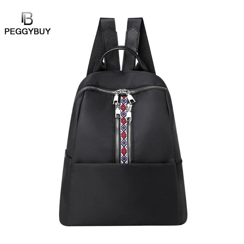 Vintage Women Backpacks Solid Girls 2019 Casual Female Nylon Retro School New Shoulder Bags Travel Bookbags Mochila femeninaVintage Women Backpacks Solid Girls 2019 Casual Female Nylon Retro School New Shoulder Bags Travel Bookbags Mochila femenina