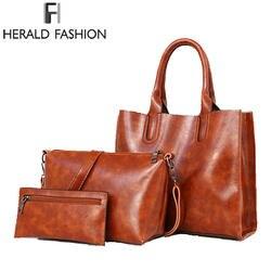 Стивен Повседневная сумка Для женщин сумки 3 шт./компл. Женская композитная сумка женская из искусственной кожи сумка