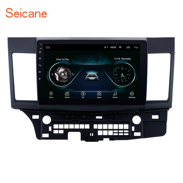 Seicane راديو السيارة 10.1 بوصة ، Android 9.1 ، Bluetooth ، Wifi ، 3G ، مشغل الوسائط المتعددة ، 2 Din ، لميتسوبيشي لانسر ex 2008 ، 2009 ، 2010 2015
