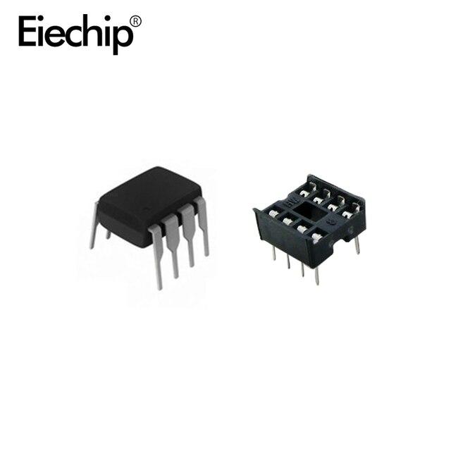 20 قطعة NE555 IC 555 و 8 دبوس DIP مآخذ (10 كل) ic ne555 و مآخذ DIP8 diy لاردوينو كاتب كيت