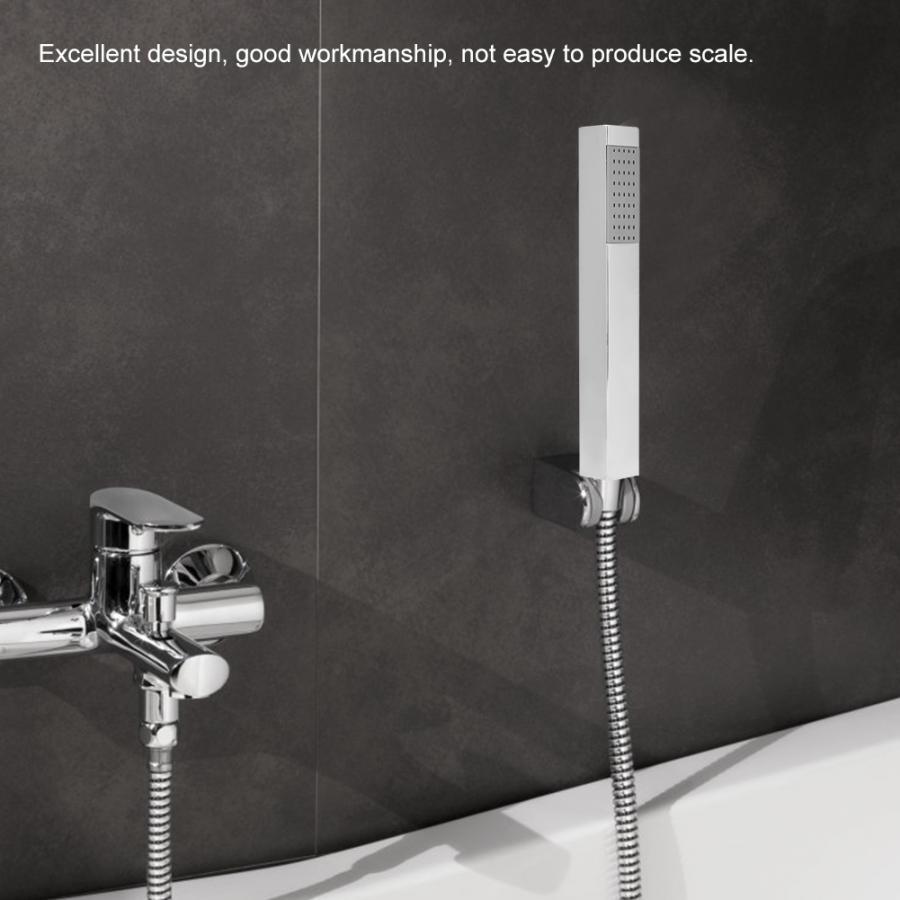 Chrome-plating Shower Head Stainless Steel Square Shape Pressurize Hand Held showerhead G 1/2 Thread douchekop hand shower