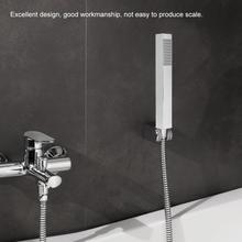 купить Chrome-plating Shower Head Stainless Steel Square Shape Pressurize Hand Held showerhead G 1/2