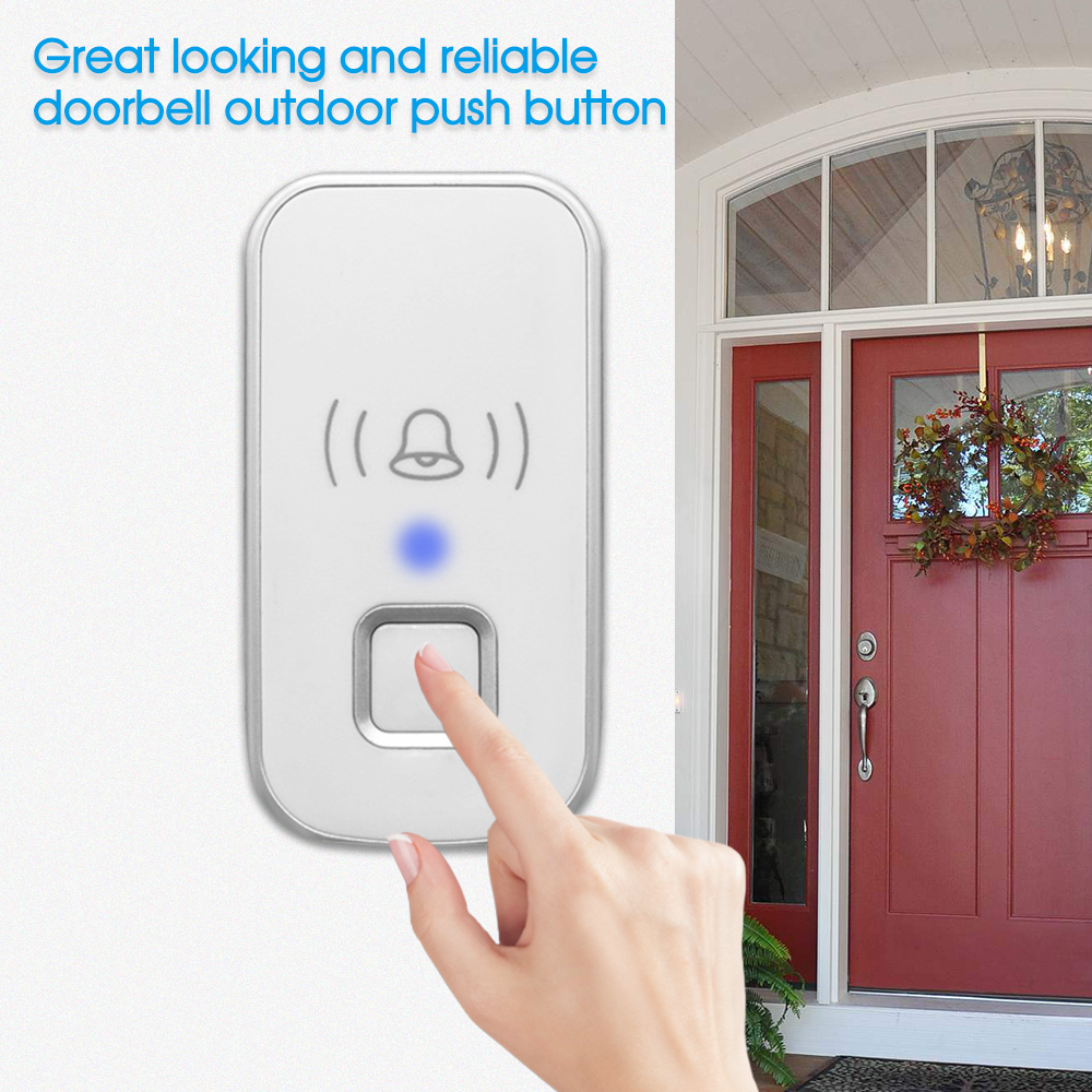 Shop For Cheap Wireless Mini Size Door Bell Outdoor Push Button Ip55 Waterproof Doorbell Elegant Design Sensitive Transmission Grade Products According To Quality Door Intercom