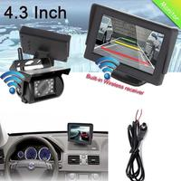 4.3 Inch Monitor 2.4G Wireless Night Vision Car Rear View System With Camera For 12 24V Trailer