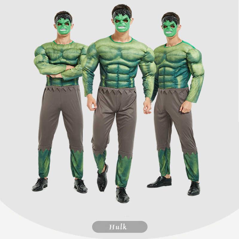 Siêu Anh Hùng Trang Phục Cosplay Nam Đội Trưởng Mỹ Siêu Nhân Batman Người Nhện Sắt Hulk Cơ Trang Phục Hóa Trang Halloween Người Lớn