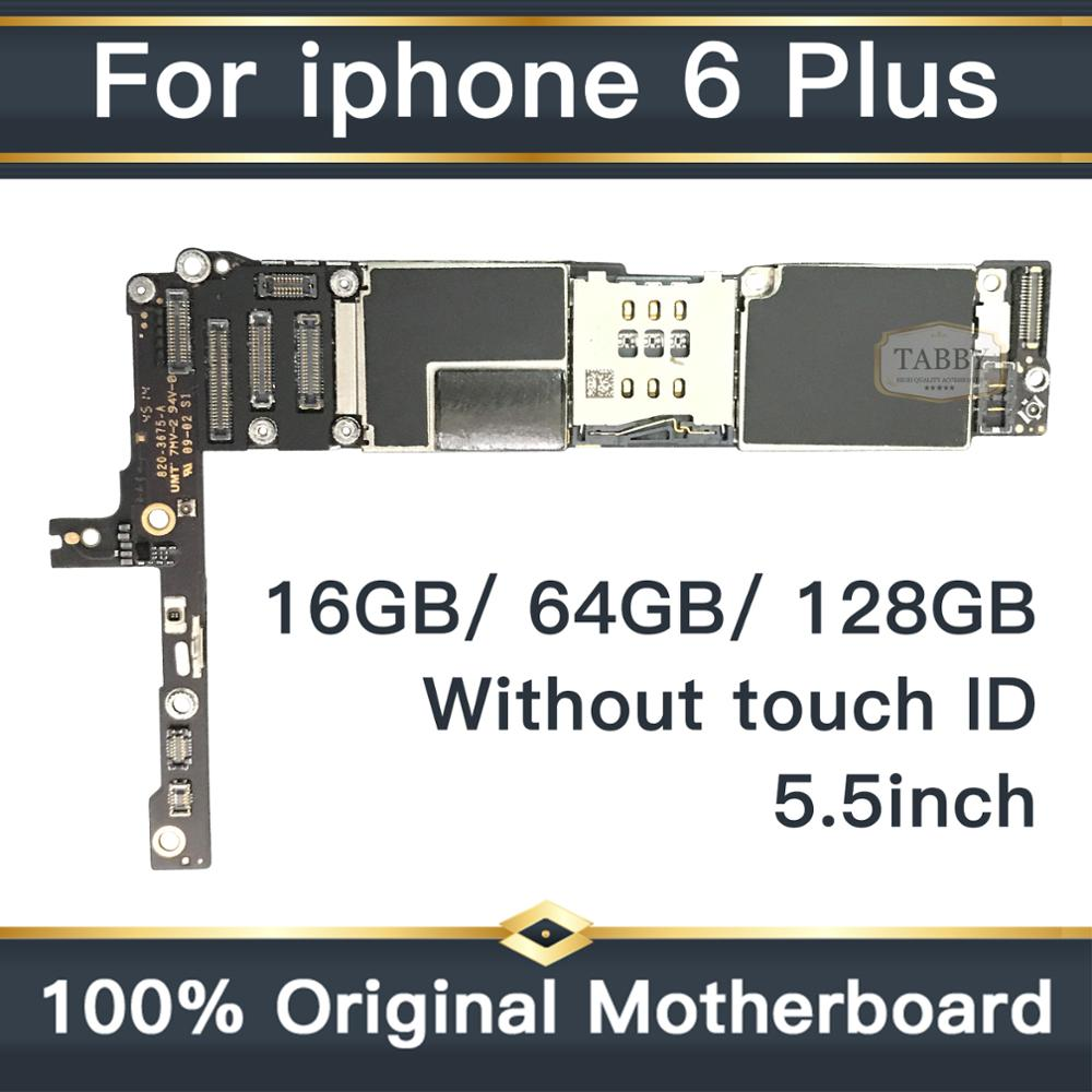 For Original iPhone 6 Plus 5.5inch Motherboard IOS System Mainboard Full Unlocked without Touch ID Logic Board Good Working