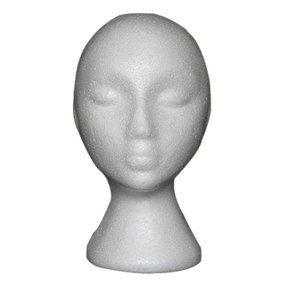 Styrofoam Foam Mannequin Female Head Model Wig Glasses Hat Display Stand mannequin