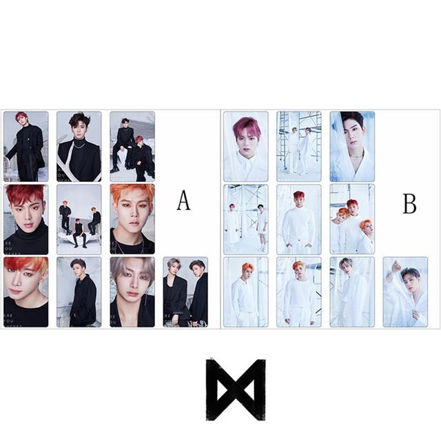 US $3 99  Kpop Monsta X Are You There Photo Stikcy Card Photocard Sticker  Crystal Photograph Card Sticker 10pcs/set-in Jewelry Findings & Components