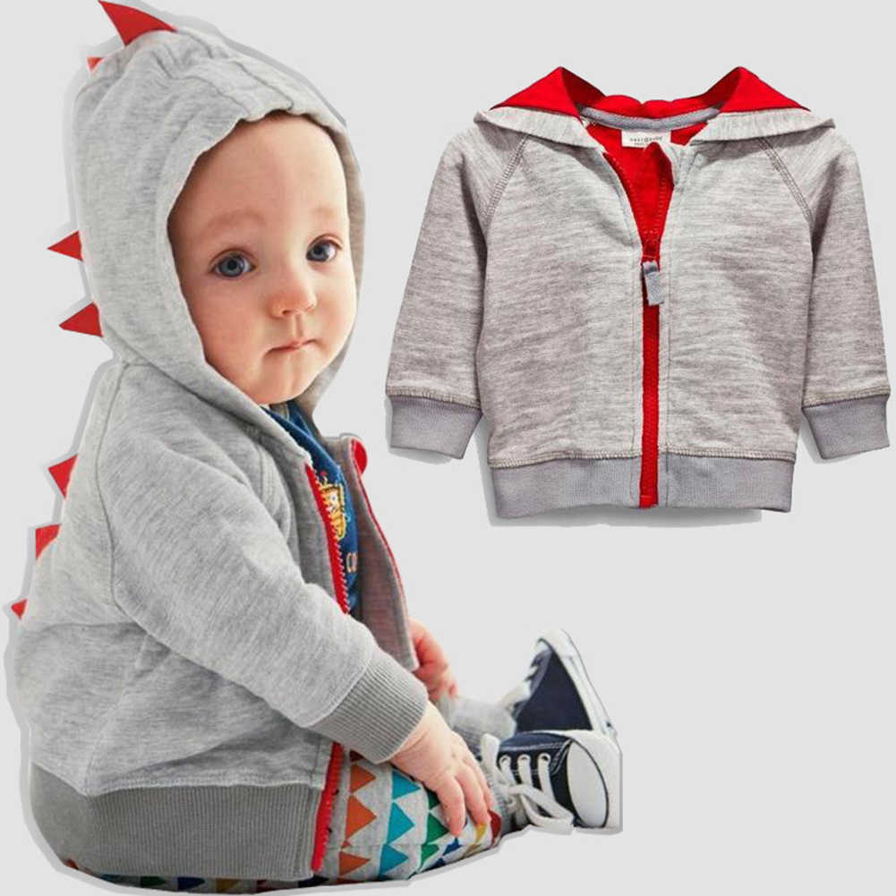 Jongens Dinosaurus Hoodies Kinderen Hoodies Sweatshirt Jongen Meisjes Lente Herfst Jas Kinderen Lange Mouwen Casual Uitloper Zip-up Sweatshirt