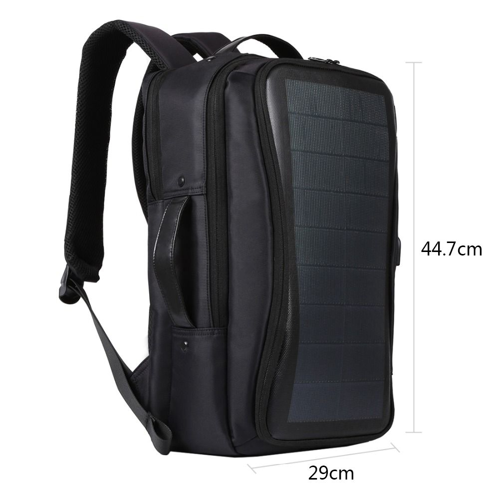 Solar Backpack Bags Flexible Solar Panel 14W Power Backpack Laptop Bag+Handle+USB Laptop Tablet Bags mesh panel iridescence backpack