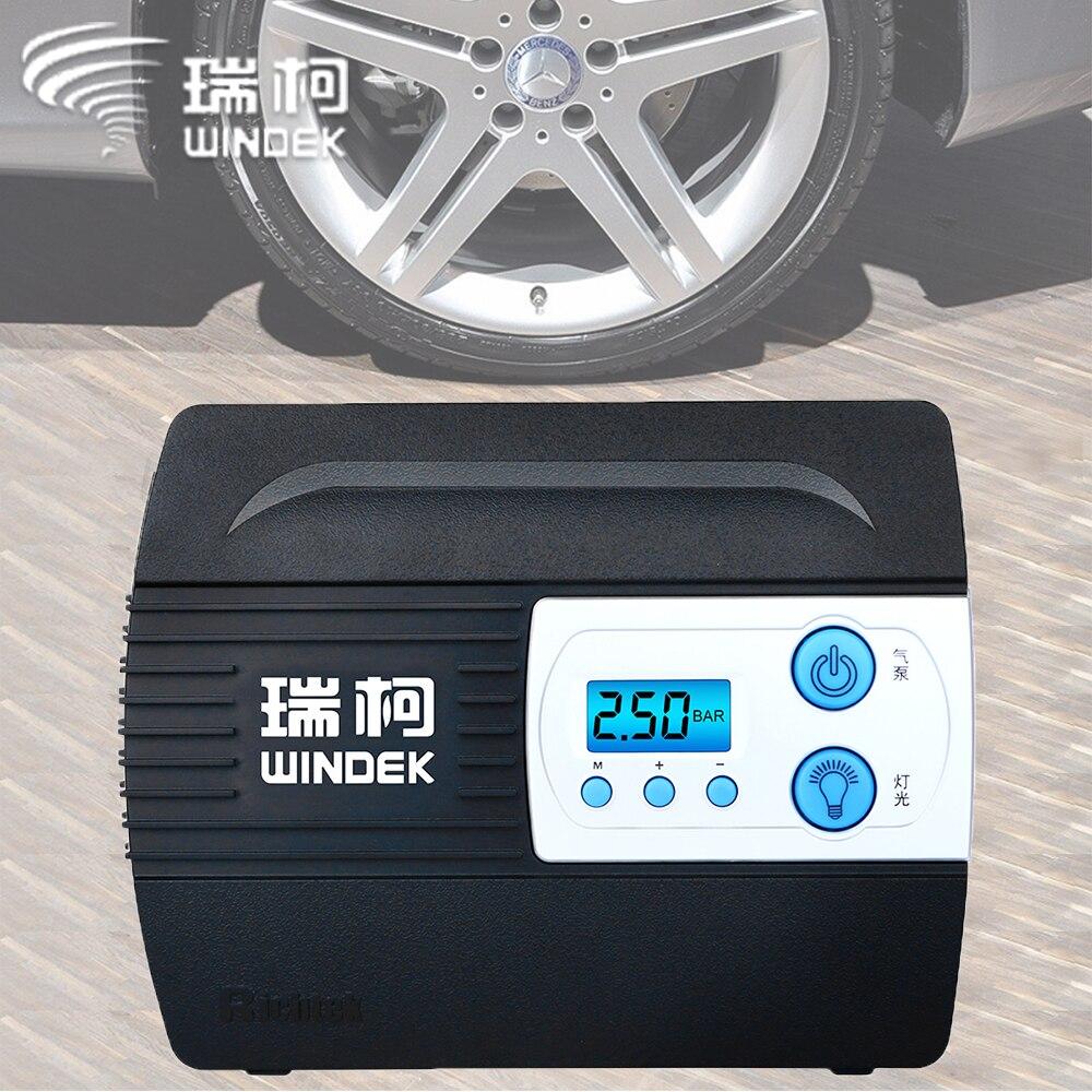 WINDEK Auto Auto Luft Kompressor Reifen Inflator Pumpe mit Preset Reifen Druck und Aufblasen Auto Stop Funktion für Reifen 12 V Digital