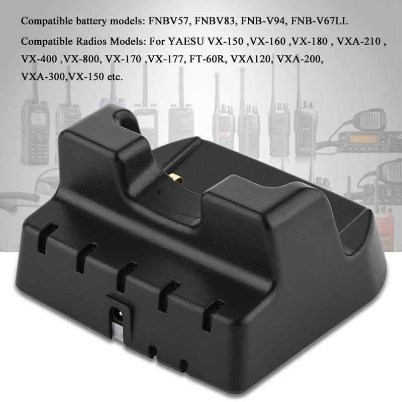 Batería de Walkie Talkie estación de carga cargador de escritorio AC 110 V-240 V con adaptador de corriente de enchufe de EE. UU. Para Radio de 2 vías de YAESU