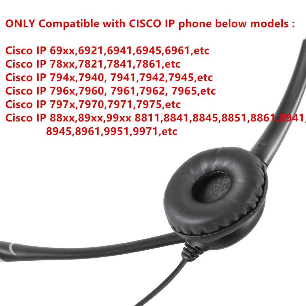 US $26 53 30% OFF|Multi functional Telephone Headset Earphone Headphones  for Cisco Telephone CP 7940 7941 7942 7945 7960 7961 7975 6911 7821 7841-in
