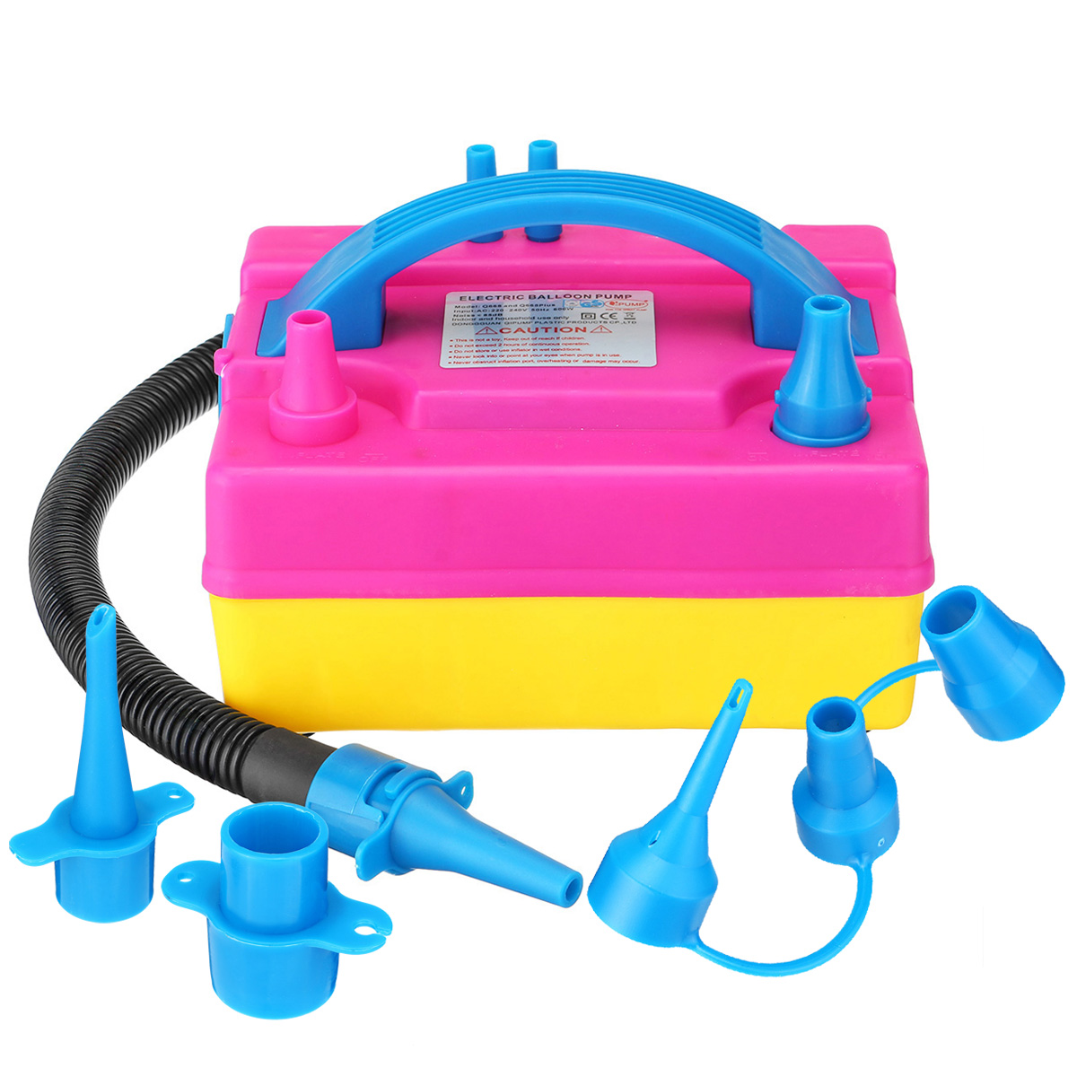 Portable Electric Double Hole Inflatable Balloons Pumps Air Balloons Inflator Air Blower Nozzles Kit Party Decoration 600W