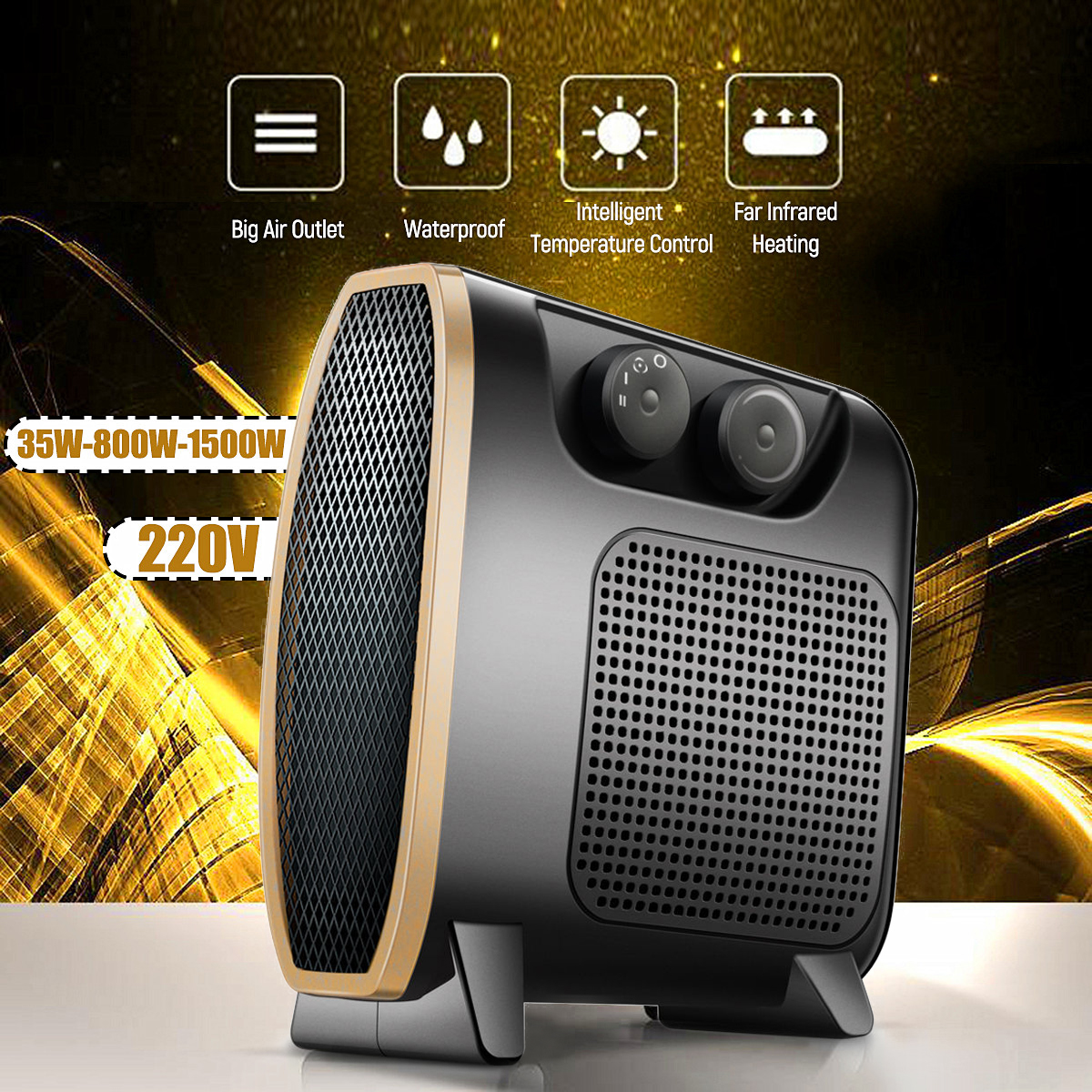 220V 35-800-1500W Desktop Household Handy Heater Mini Fan Heater Electric Air Heater Stove Radiator Warmer Machine For Winter cute mini fan heater desktop household electric heater fast handy heater warm machine for winter small desktop heater