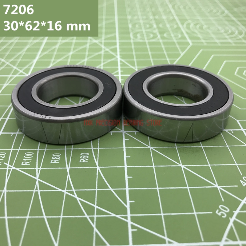 2019 High Quality 1 Pair 7206 7206c-2rz-p4-dta 30*62*16 Mm Sealed Angular Contact Speed Spindle Bearings Cnc Engraving Machine2019 High Quality 1 Pair 7206 7206c-2rz-p4-dta 30*62*16 Mm Sealed Angular Contact Speed Spindle Bearings Cnc Engraving Machine
