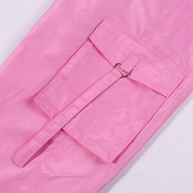 BOOFEENAA Rosa Sexy Set Due Pezzi Crop Top e Pantaloni Cargo Abiti Streetwear Tuta di Estate Delle Donne Vestiti di Corrispondenza Set C68AE64 6