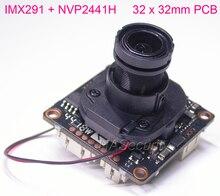 """Placa de módulo de cámara Sony CMOS Exmor IMX291 + NVP2441 CCTV, 32x32mm, AHD H (1080P) 1/2.8 """", con cable OSD + lente 1080P + IRC (UTC)"""