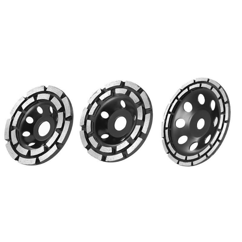 115/125/180 Mm Diamond Grinding Disc Abrasives Concrete Tool Segment Grinding Cup Wheel Disc Double Row Stone Brick Tile Grinder