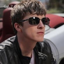 Caponi Square Sun Glasses Men Polarized Photochromic High Quality Aluminum Retro Sunglasses Eyewear For Driving Use UV400 RB7755