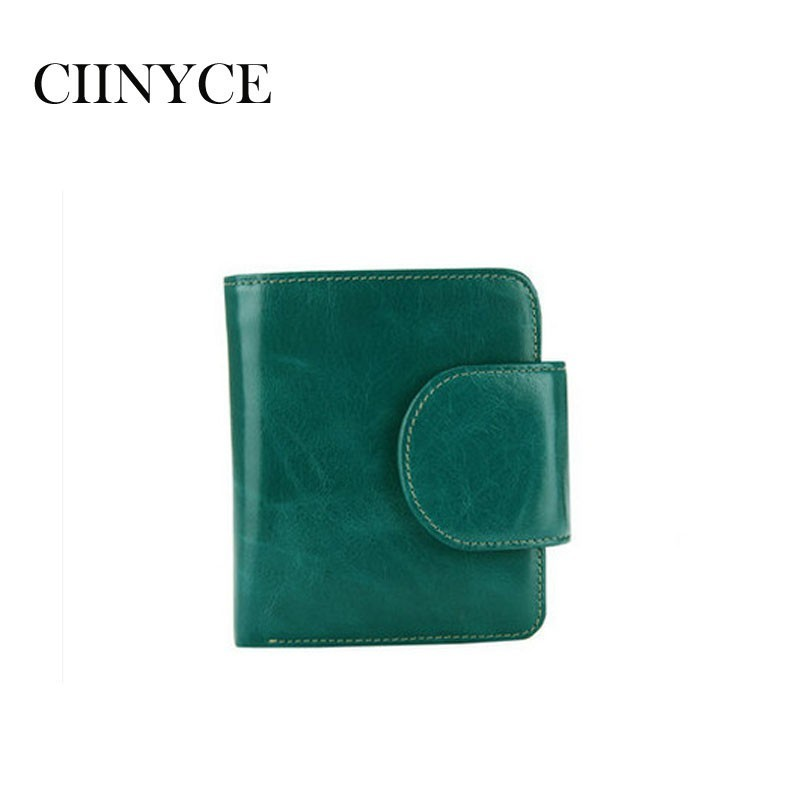2019 New Design Brand Mini Wallets Women's Genuine Cow Leather Small Short Clutches Money Puse Nature Skin Cards Holders
