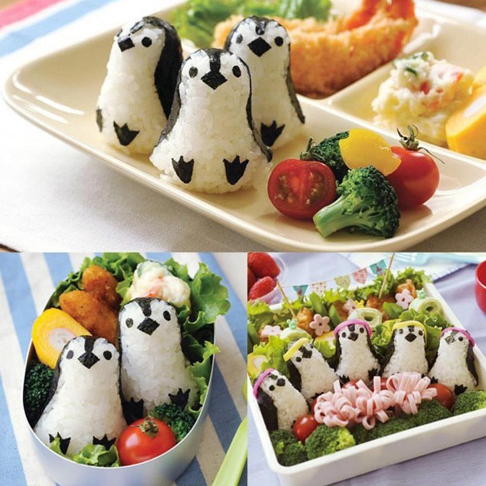HILILFE 1 набор, суши-Пингвин, сэндвич-формы форма для рисовых шариков, суши, нори, пуансон, инструмент, инструменты для приготовления пищи, форма для рисовых шариков-5